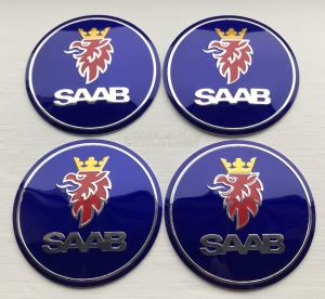 SAAB hjulnav emblem fälgemblem 56, 60, 65 mm