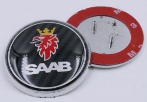 SAAB emblem i äkta kolfiber till huv och baklucka