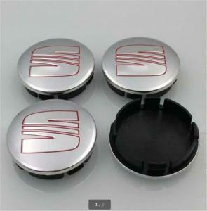 Seat logo centrumkåpor silverfärg 56, 60, 63 mm