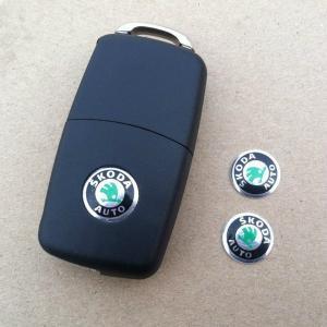 Skoda logo emblem till bilnycklarna 2-pack