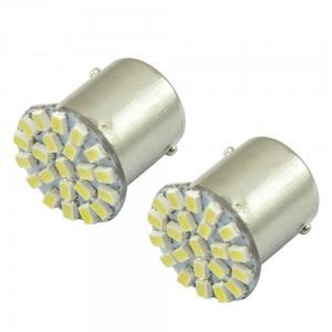 2st vita LED 1156, 1157 BA15S BA15D canbus lampor