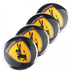 Coola hjulnav emblem fake Ferrari med åsna 56mm