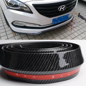 Universal frontspoiler-läpp / list i kolfiber till bilen