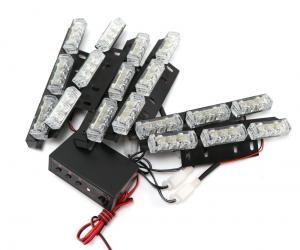 Polislampor blinkande strobe LED belysning röd & blå