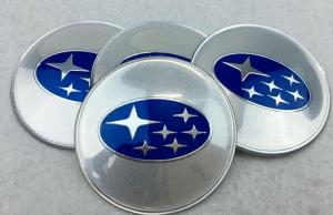 Subaru hjulnav emblem 4st 56, 60, 65 mm. Silver