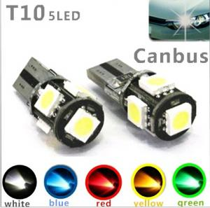 T10 SMD lampor 2 pack LED errorfri canbus lampa