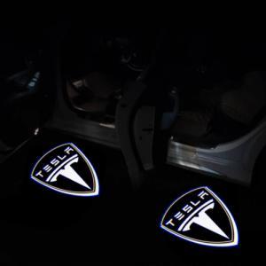 Tesla logo dörrlampor dörrbelysning 2-pack