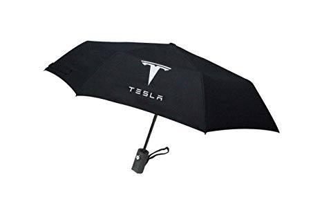 Tesla logo paraply. Perfekt för att ha i bilen