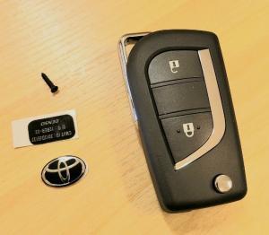 Toyota nyckeldosa nyckelskal med 2 knappar