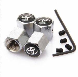 Toyota ventilhattar i krom med lås 4 pack