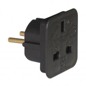 2-pack UK till Eu adapter reseadapter kontakt
