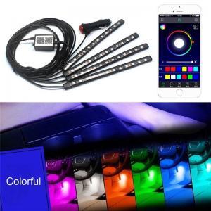 LED RGB strip belysning till bilen / MC. Styr med telefonen