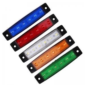Små DRL LED lampor för styling av bil lastbil arbetsbil MC