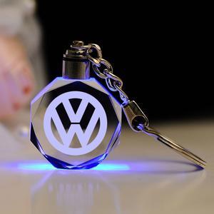 Volkswagen LED kristall nyckelring med alla färger