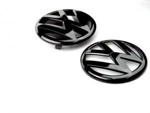 Volkswagen MK6 MK7 B7 B8 svarta VW emblem 2st