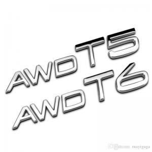 Volvo T5, T6, AWD emblem till bilens bagagelucka