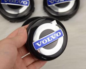 Volvo centrumkåpor fälg emblem i svart 56, 60, 64 mm