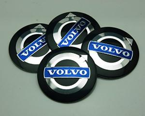 Volvo fälgemblem i svart färg 56mm, 60mm