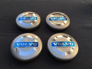 Volvo centrumkåpor, navkapslar till fälgarna (grå)