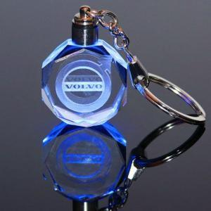Volvo LED kristall nyckelring med alla färger