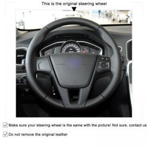Volvo rattöverdrag rattskydd svart ratt läder bilen