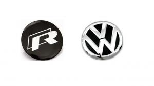 Volkswagen VW Rline R line emblem till ratten