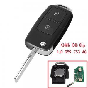 Volkswagen bilnyckel 434/433mhz med 2 knappar