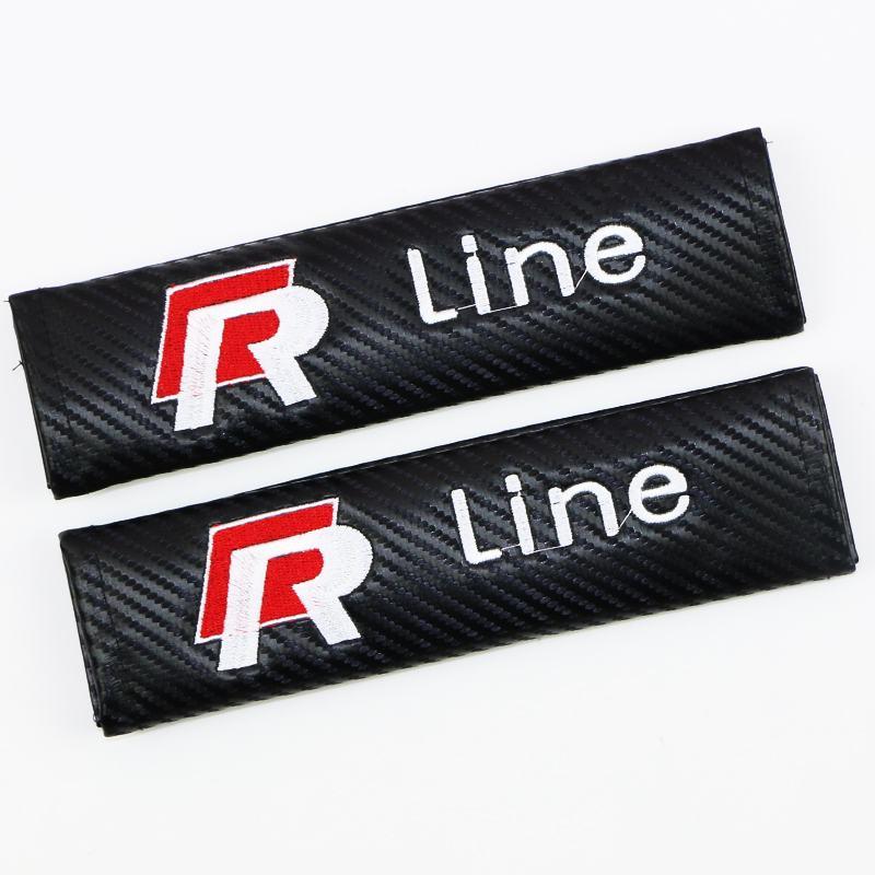 Volkswagen Rline bälteskuddar i kolfiber. R line kudde till bilen 260be9557ad14