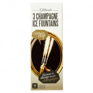 3 Champagne Ice Fountains - isfacklor för champagne