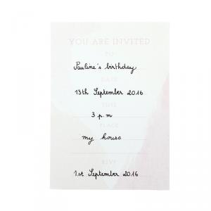We Heart Pink Printable Invitation