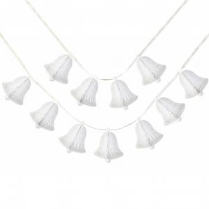 Decadent Decs White Bell Honeycomb Garland