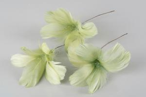 Lime Green Flower 12 st - Feather Romance