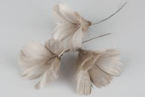 Light Taupe Flower 12 st - Feather Romance