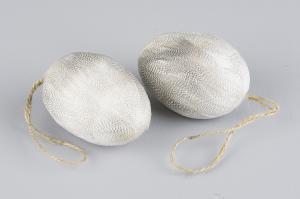 Sicksack Ägg - ägg med sicksackfjädrar