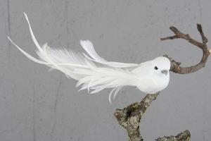 White Dove Deluxe 14 cm - Feather Romance