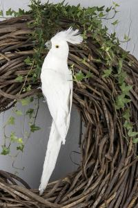 White Parrot Side 50 cm - Feather Romance