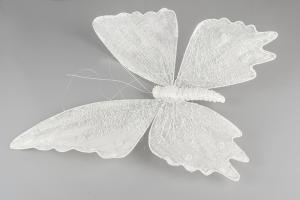 White Butterfly Sheer Pearl 50 cm - Feather Romance