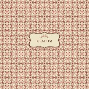 """Grattis"" textkort - stort"