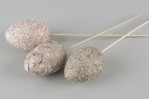 Rosa Ägg Mix Stick - pastellägg på pinne