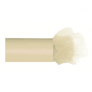 Fine Tulle Roll Ivory 20 m x 30 cm