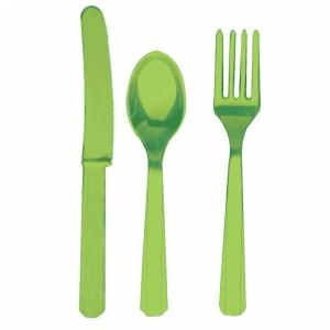 Kiwi Green Party Plastic Cutlery