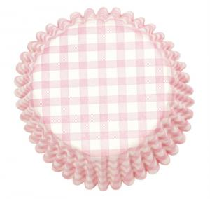 Pink Gingham Cake Cases