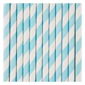 Blue & White Striped Straws