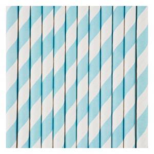 Blue & White Striped Straws