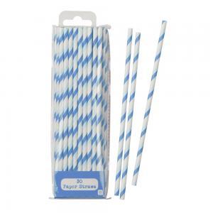 Mix & Match Blue Straws