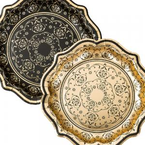 Party Porcelain Baroque Foiled Plates