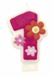 Flower Candle Number 1 - tårtljus