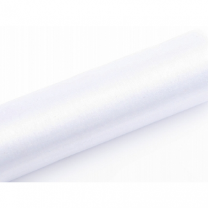 Organza Drapes Sheer Roll White 9 m x 16 cm