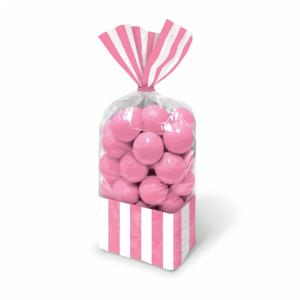 Candy Buffet Striped Party Bags New Pink