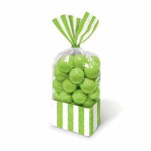 Candy Buffet Striped Party Bags Kiwi Green